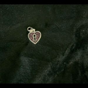 Thomas Sabo silver with red crystal heart charm